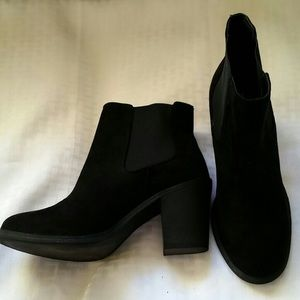 H and M black suede booties
